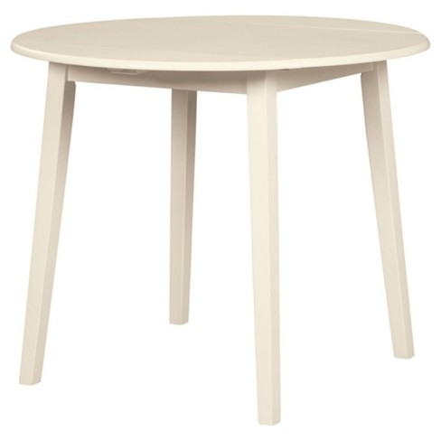 Slannery Round Drop Leaf Table White