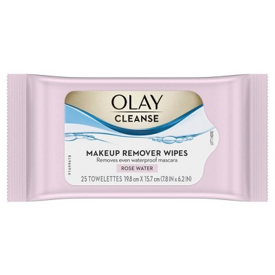 Olay Cleanse Makeup Remover Wipes Rose Water - 25ct