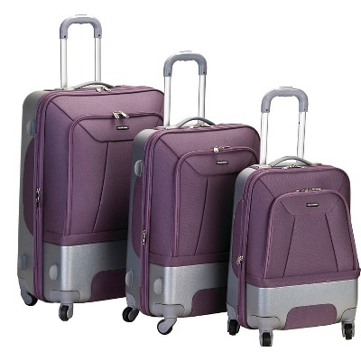 Rockland Rome 3pc. Hybrid ABS Luggage Set - Lavender