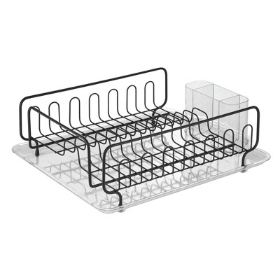 InterDesign Under Sink Organizer with Shelf Black