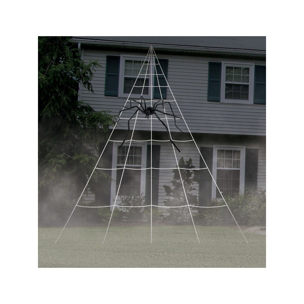 Image of Halloween Giant Spider Web Decoration