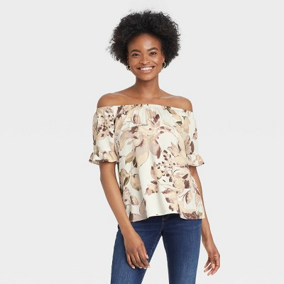 Women's Short Sleeve Off the Shoulder Top - Knox Rose™