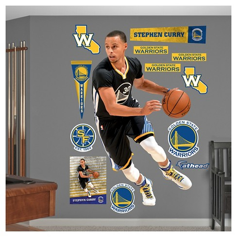 19dc1f8b9ac NBA Golden State Warriors Stephen Curry Fathead Wall Decal Set : Target