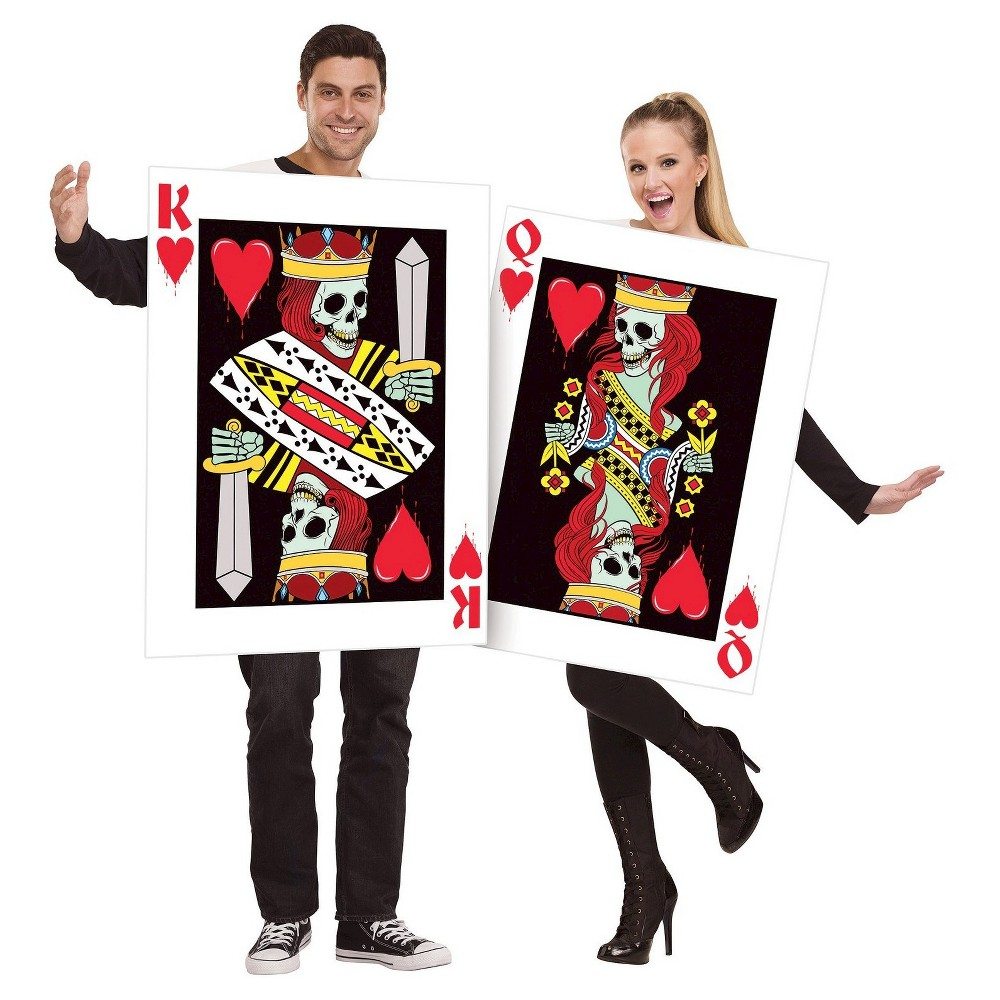 King and Queen of Hearts Costume Men's One Size, Multi-Colored