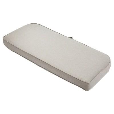 Montlake Fadesafe Patio Bench/Settee Contoured Back Cushion Set - Heather Gray - Classic Accessories