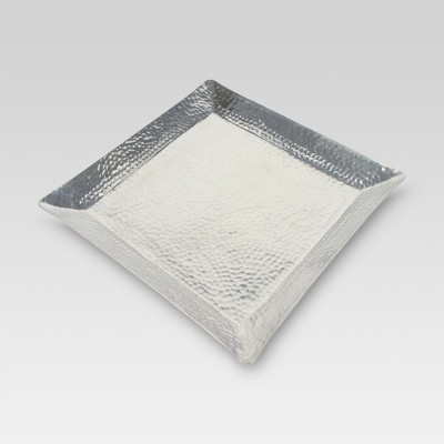 Square Tray Hammered Metal - Threshold™