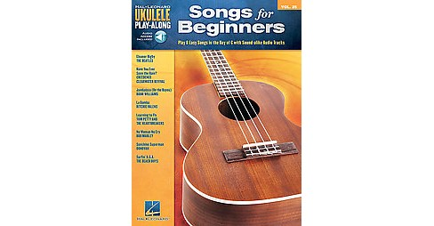 Songs for Beginners : Play 8 Easy Songs in the Key of C with Professional Audio Tracks (Paperback) - image 1 of 1