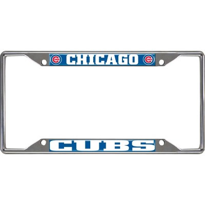 MLB Chicago Cubs Stainless Steel License Plate Frame