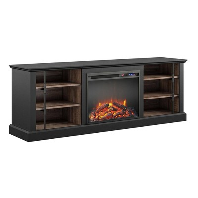"Voltaire Fireplace TV Stand For TVs Up To 70"" Black - Room & Joy"