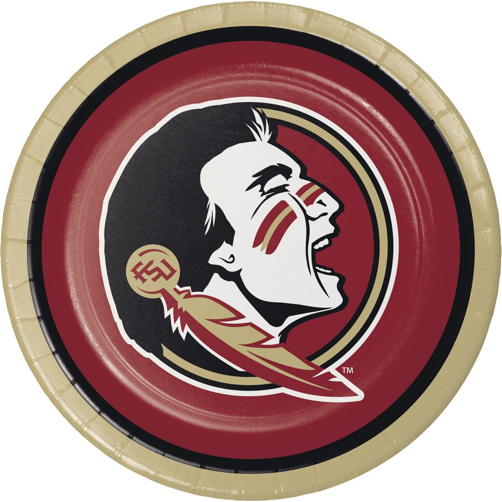 Image of 24ct Florida State Seminoles Paper Plates Red
