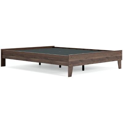 Calverson Platform Bed Mocha - Signature Design by Ashley