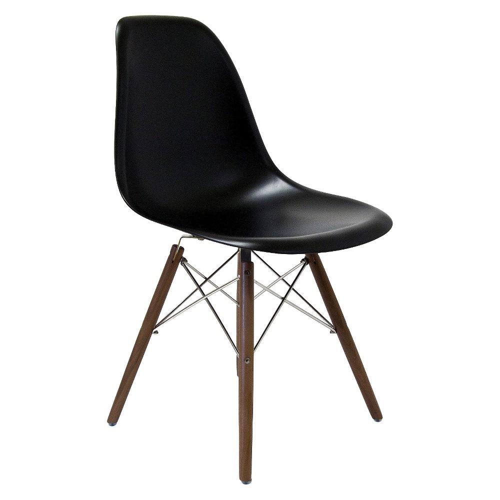 Isabelle Side Dining Chair - Black Matte and Walnut - Aeon, Black Matte/Brown