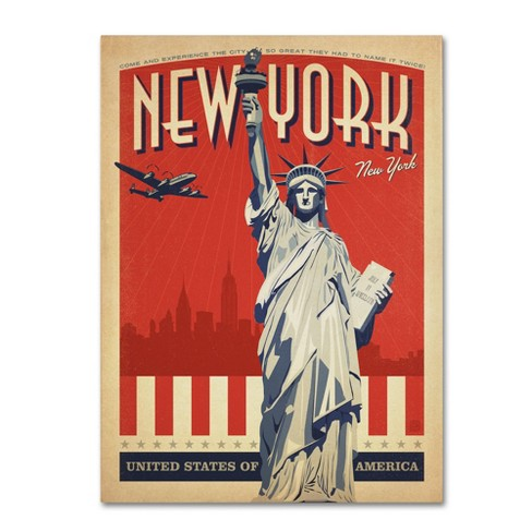 New York, NY II\' by Anderson Design Group Ready to Hang Canvas Wall ...