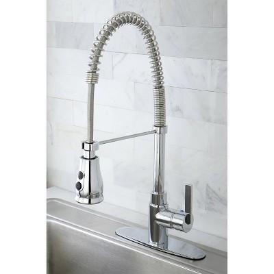 Modern Spiral Pull Down Kitchen Faucet Chrome - Kingston Brass, Grey