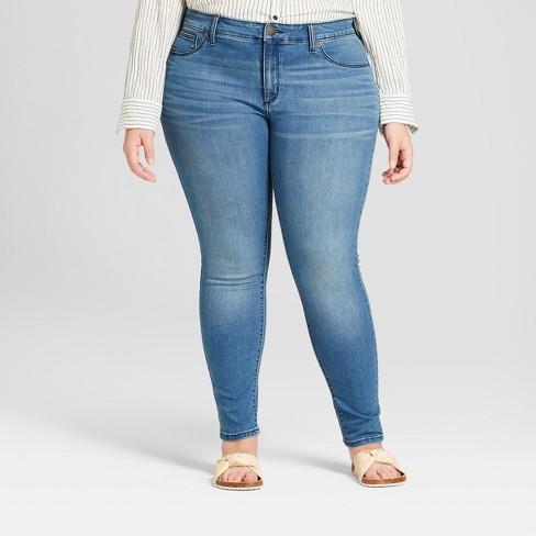 dc881ef141232 Women s Plus Size Jeggings - Universal Thread™ Medium Wash   Target