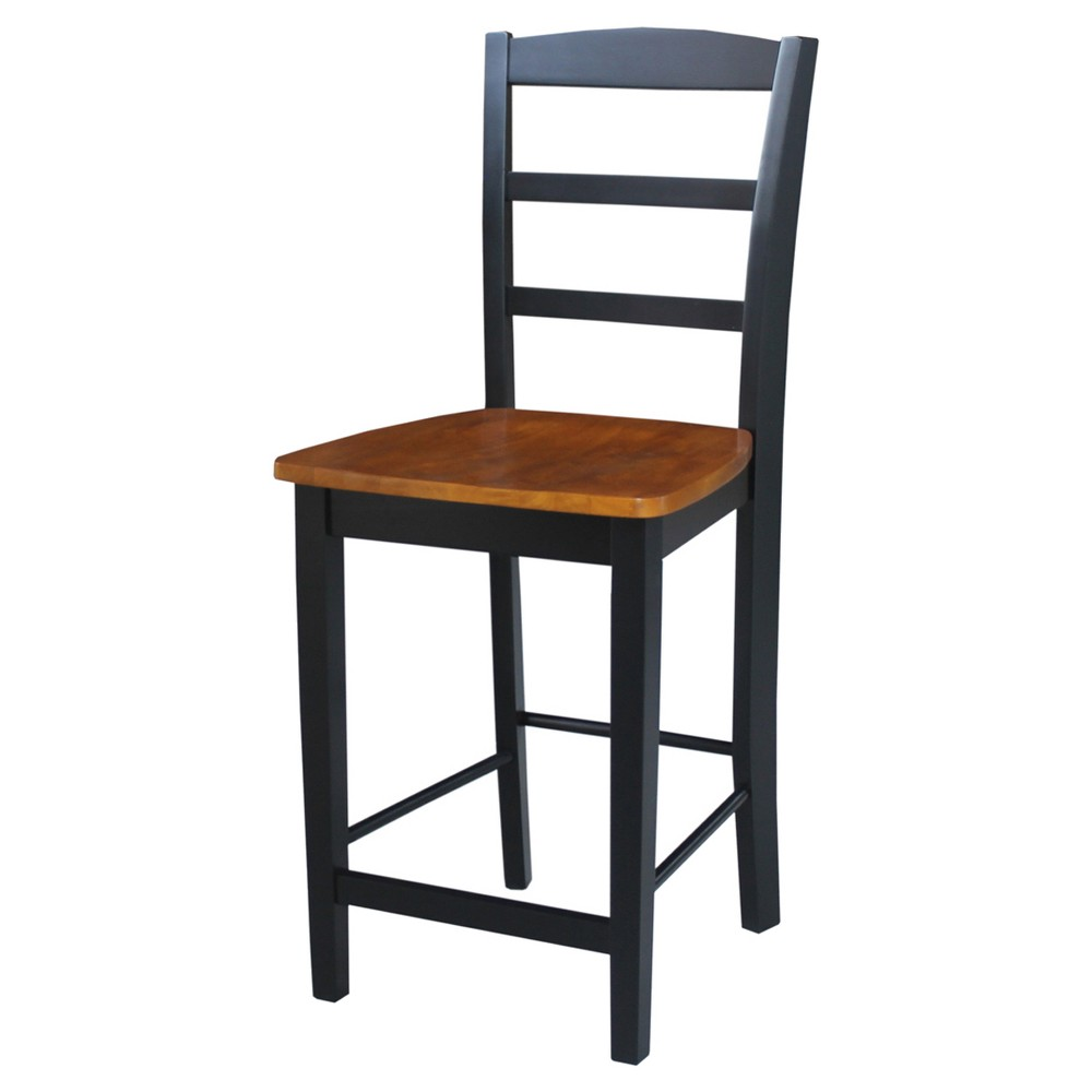 "Image of ""24.02"""" Madrid Counter Stool - Black/Cherry - International Concepts"""