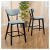 """Set of 2 24.5"""" Ferra Counter Stool Teal - Christopher Knight Home - image 2 of 4"""