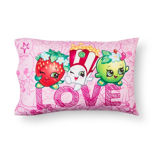 Love Pillowcase (Standard) Pink - Shopkins® - image 1 of 2