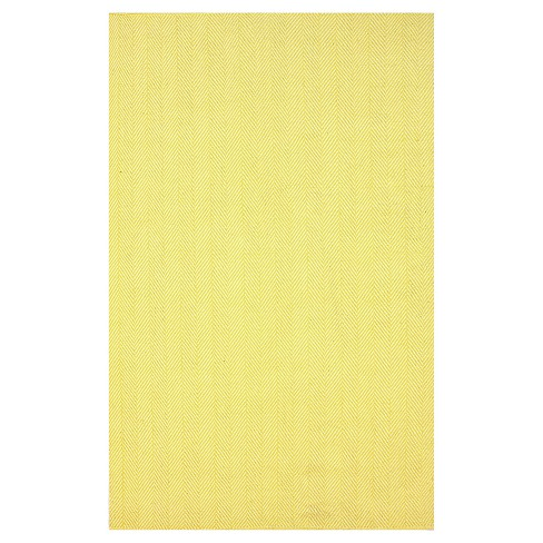 nuLOOM Cotton Hand Loomed Herringbone Cotton Area Rug - Yellow (8' x 10') - image 1 of 1