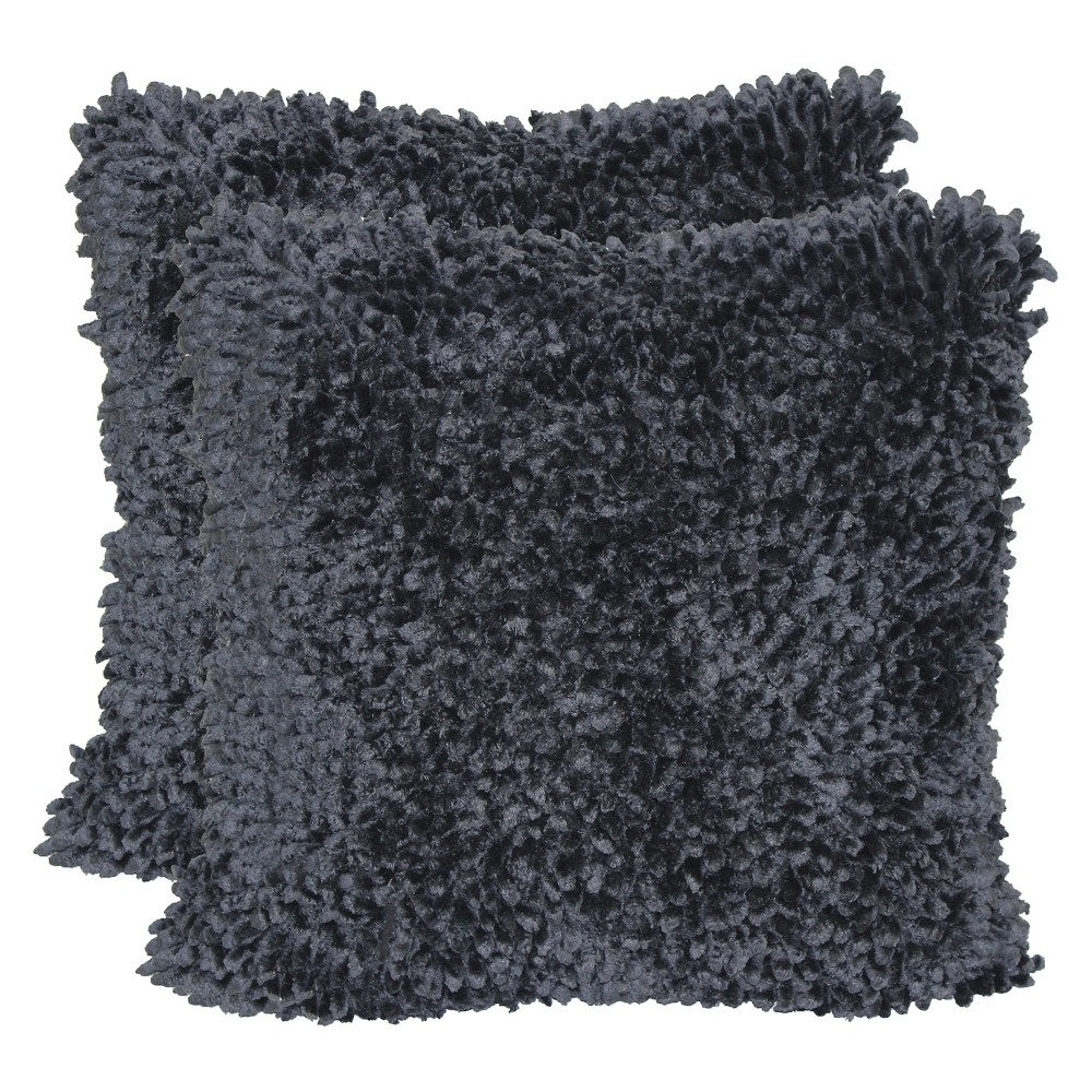 "Image of ""Black Texture Throw Pillow with Canvas Back (18""""x18"""") - Brentwood"""