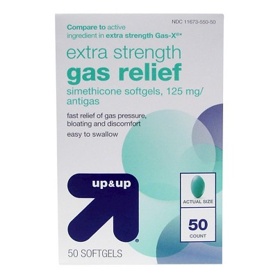 Extra Strength Gas Relief Softgels - 50ct - Up&Up™