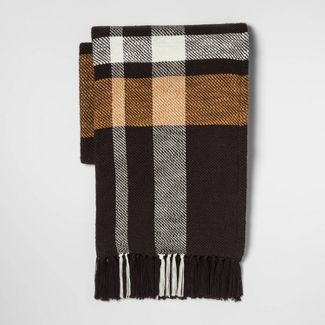 Woven Exaggerated Plaid Throw Blanket- Threshold™