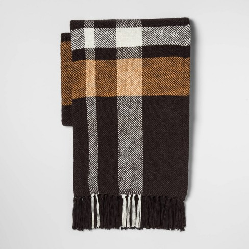 Woven Exaggerated Plaid Throw Blanket- Threshold™ - image 1 of 1
