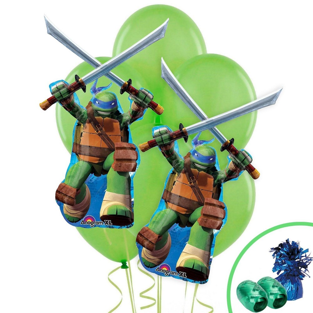 Ninja Turtles Leonardo Jumbo Balloon Bouquet Kit, Multi-Colored