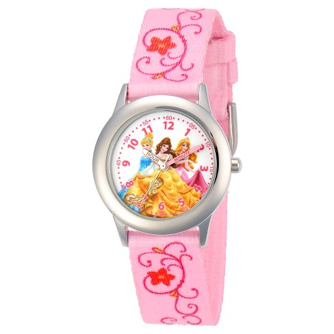 Disney® Girls' Princess Stainless Steel Case Watch - Pink - image 1 of 2