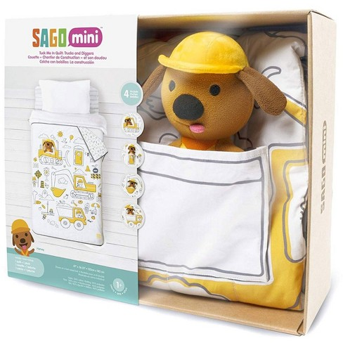 Sago Mini Tuck Me In Quilt Trucks and Diggers - image 1 of 4