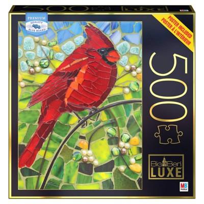 Milton Bradley Big Ben Luxe: Cardinal Glass Jigsaw Puzzle - 500pc