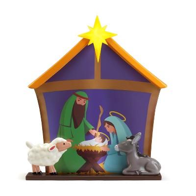 Mr. Christmas Outdoor Light up Christmas Decoration - Nativity Scene