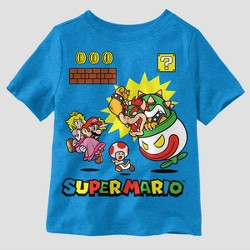1a8be7c95 Toddler Boys' Nintendo Super Mario Short Sleeve T-Shirt - Aqua
