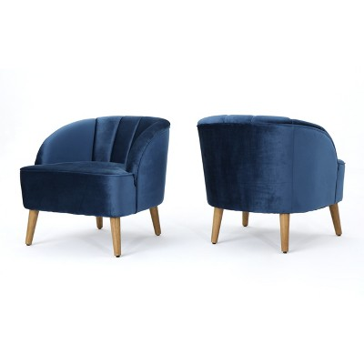 Set of 2 Amaia Modern New Velvet Club Chair - Christopher Knight Home