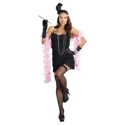 Women's Flapper Basic Dress Costume Black