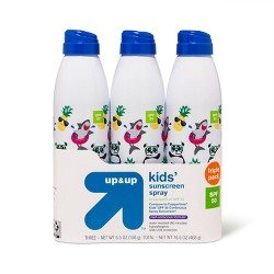 Kids Continuous Spray - SPF 50 - 3pk/16.5oz - Up&Up™