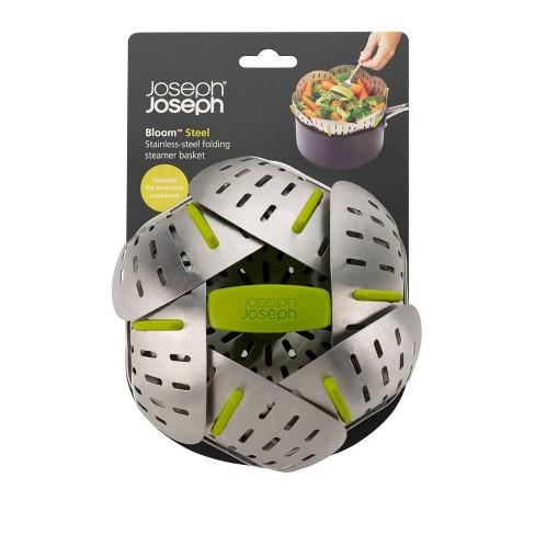 Joseph Joseph Bloom Steel Stainless Steel Folding Steamer Basket - Green - image 1 of 4