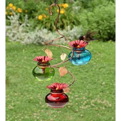 Plow & Hearth - Vinester Outdoor Garden Hummingbird Feeder