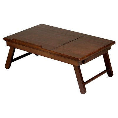 Winsome Alden Lap Desk with Flip Top in Walnut Finish