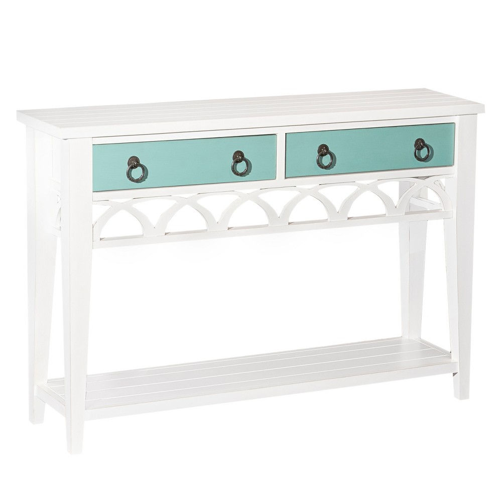 Alina Console Table Teal/White - Powell Company