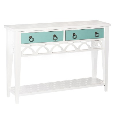 Alina Console Table Teal/White   Powell Company