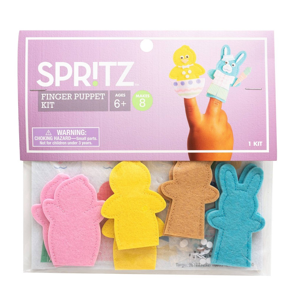 Diy 4ct Finger Puppets - Spritz, Multi-Colored
