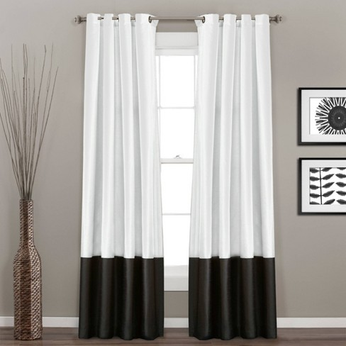 Set of 2 Prima Light Filtering Window Curtain Panels - Lush Décor - image 1 of 4