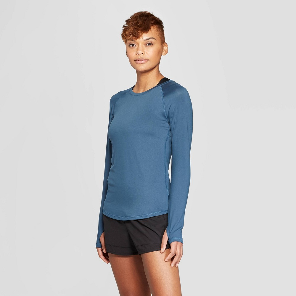 Women's Long Sleeve Soft T-Shirt - C9 Champion Jade (Green) Xxl