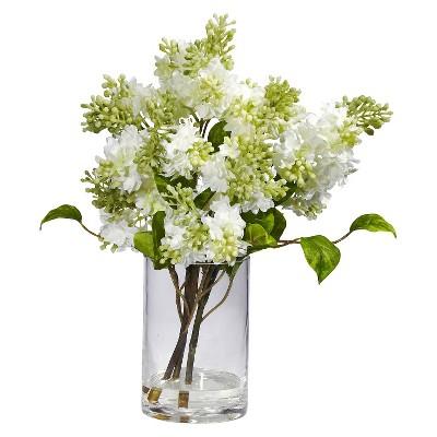 Nearly Natural Lilac Silk Flower Arrangement