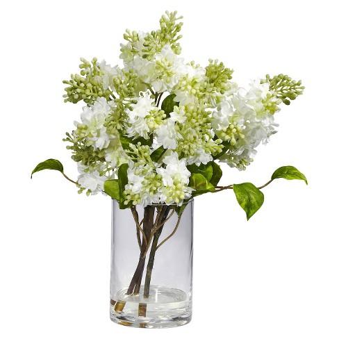 Nearly Natural Lilac Silk Flower Arrangement Target