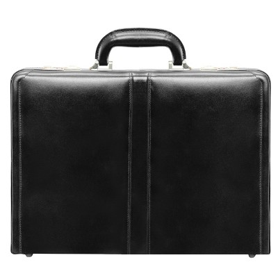 "McKlein Harper Leather 4.5"" Expandable Attache Briefcase - Black"