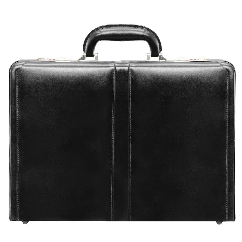 "Image of ""McKlein Harper Leather 4.5"""" Expandable Attache Briefcase - Black"""