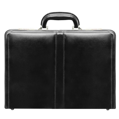 "McKlein Harper Leather 4.5"" Expandable Attache Briefcase - Black - image 1 of 3"
