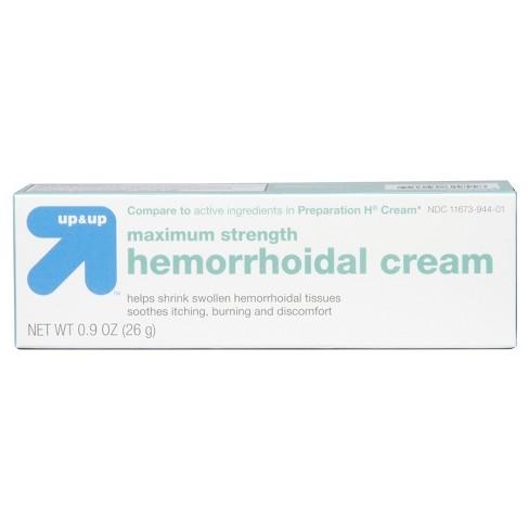 Hemorrhoid Maximum Strength Cream - .9oz - Up&Up™ - image 1 of 4